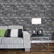 wallpaper livingroom wallpaper ideas for living room grey brick wallpaper living room