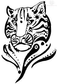 tribal tiger jaguar design