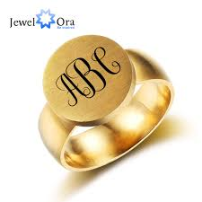 online get cheap engrave custom personalized rings for men customized stainless steel ring fashion trendy jewelry personalized engrave best gift for birthday jewelora