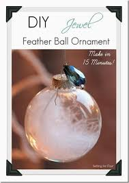 15 minute and feather ornament setting for four