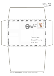 letter to santa template printable black and white 26 images of printable christmas envelope template infovia net