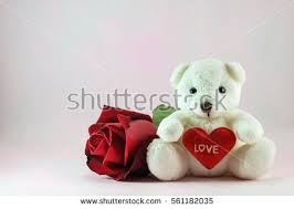 teddy for s day white teddy stock photo 561182035