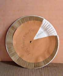 thanksgiving pie paper plate craft