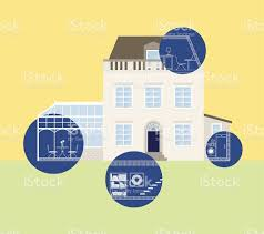 house blueprints home planning extension stock vector art