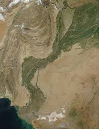 Map Of Indus River Nasa Visible Earth The Indus River Valley Pakistan