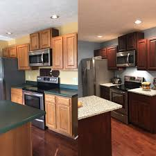 cost to paint stained kitchen cabinets our before and after kitchen general finishes gel stain in