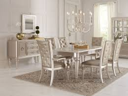 dynasty gold metallic extendable rectangular leg dining room set