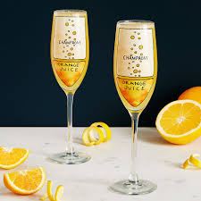 mimosa diagram glassware set of 2 champagne flute geek
