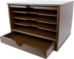 Desk Organizer With Drawer by Victor B4720 Mocha Brown Desktop Organizer Victor Technology Llc
