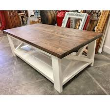 white farmhouse coffee table industrial console table with steel hairpin legs molly s marketplace