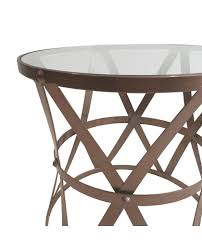 french style side table glass rustic metal side table copper allissias attic vintage
