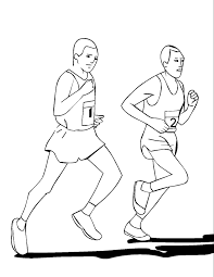 health with jogging coloring pages for kids e4n printable
