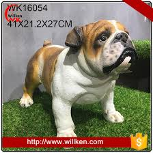 bulldog animal garden statues 2017 on selling