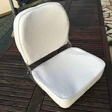 housse siege bateau siège bateau rabattable en cuir synthetique blanc avec housse de