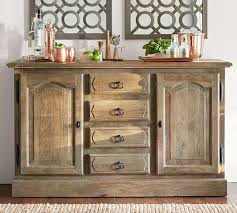 rustic buffet table pottery barn sideboard reclaimed wood