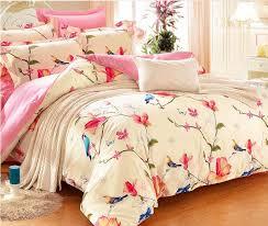 King Size Duvet Cover Set European And American Bird Bedding Sets Eyedrop Bedlinens King
