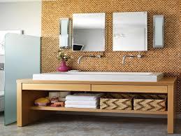 wall modern cork flooring with storage and white sink plus cork
