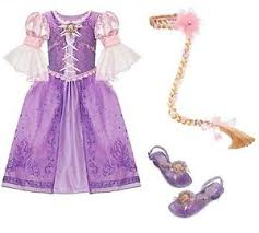 Rapunzel Halloween Costumes Disney Store Tangled Rapunzel Dress Shoes Wig 10 Braid