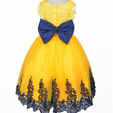 wholesale ball gown beauty nice lace yellow and black flower