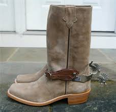 spaghetti western clint eastwood style suede cowboy boots and