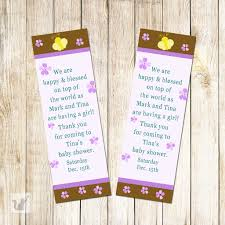 princess baby shower bookmark favor u2013 pink the cat