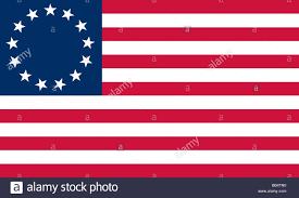 Flag Red White Blue Horizontal Stripes Historische Flagge Der Vereinigten Staaten Von Amerika Betsy Ross