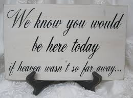 memorial we you would be here today if heaven wasn t