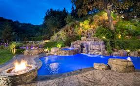 fire water combo in 15 traditional pools with fire pits home