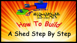 how to build a shed step by step youtube