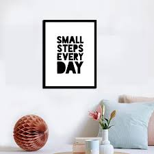 small step every day quote canvas art print painting poster home