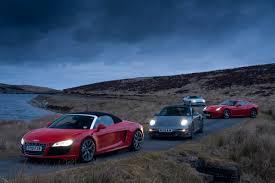 lexus lc vs audi r8 audi r8 spyder v porsche 911 turbo v jaguar xkr v ferrari