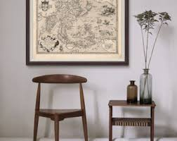 Map Home Decor Map Of India Etsy