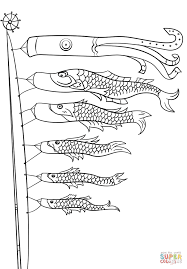 koinobori coloring page free printable coloring pages