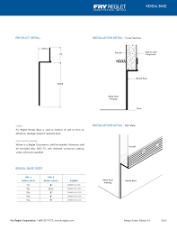 Baseboard Dimensions Adam M Breen Details For The Baseboard And Reveal Drywall
