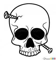 how to draw skull with nails skulls
