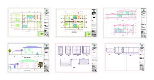 architectural and structural design country house in autocad