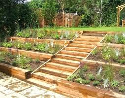 Tiered Backyard Landscaping Ideas Tiered Vegetable Garden Design Hydraz Club