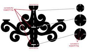 Easy To Draw Chandelier Home Dzine Craft Ideas Make A Cardboard Chandelier