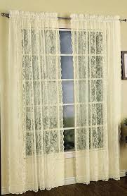 windsor lace panel natural united curtains country curtains