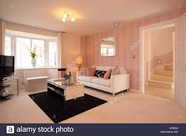 build a living room home interior modern lounge new build living room pink cream