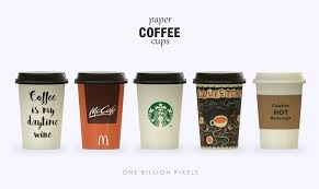 coffe cups paper coffee cups the sims 4 one billion pixels