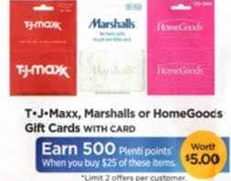 marshall gift card rite aid 25 tjmaxx marshall s or homegoods gift card for only