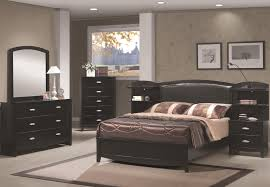 bedroom bedroom black wooden on mocha rug and bedside table