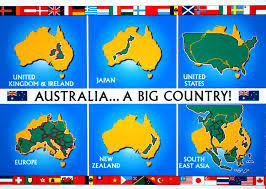 New Zealand On A World Map by Australia A World Leader In Bigness Big Think