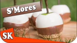 candy apples for halloween how to make s u0027mores candy apples for halloween youtube