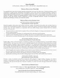 resume exles high education only disclaimer sle teacher resumes inspirational sle high special