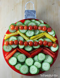 christmas ornament vegetable tray 360 family nutrition