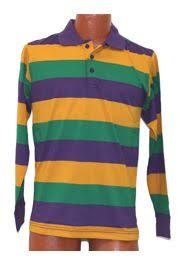 mardi gras wholesale gras style t shirt w sleeve collar small size