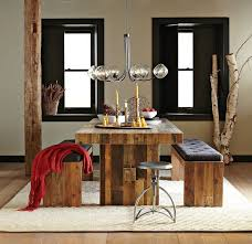 Modern Rustic Dining Room Table Modern Bench Style Dining Table Set Ideas Homesfeed