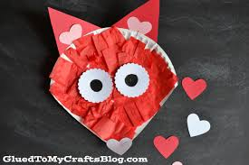 paper plate valentine fox kid craft